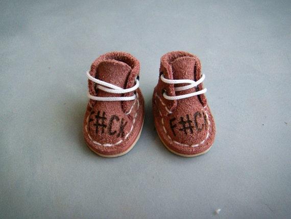 Burgundy blythe doll shoes blythe clothing blythe and bjd boots