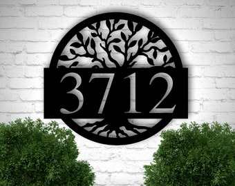 Address Plaque, Metal Address Plaque, Address Sign, Metal Address Sign,  Number Sign, Outdoor Sign, House Number Sign, House Sign