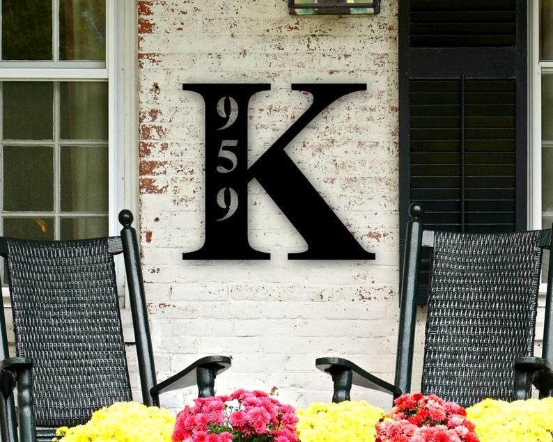 Custom Metal Address Sign Address Sign Metal Address Sign Metal Letter Sign for Front Porch Address Plaque Metal Sign Last Name Letter