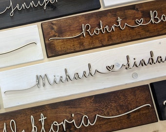 Personalized Wedding Gift Ideas, Vintage Wood, Silver Wedding & Golden Wedding Gifts for Newlyweds, Wedding Anniversary