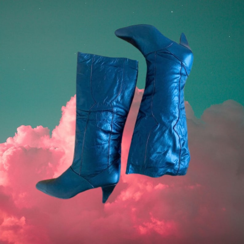 Vintage 80\u2019s Genuine Leather Tall boots