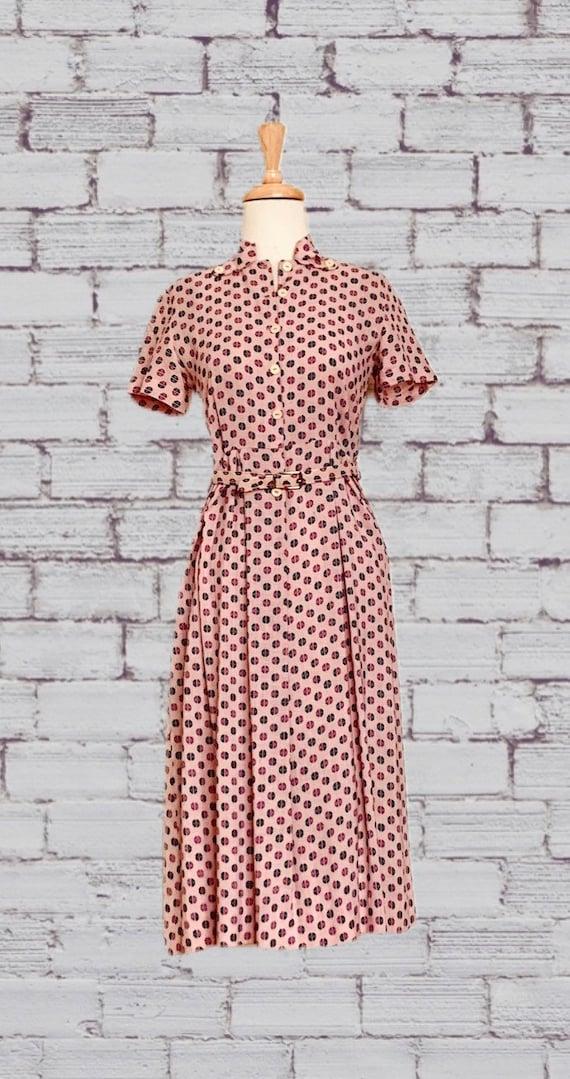 Vintage mandarin collar shirt dress