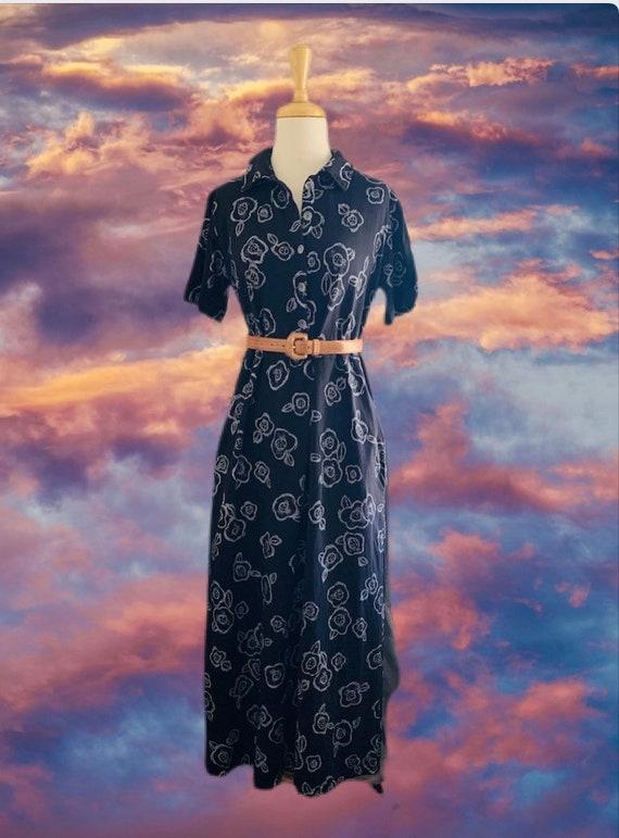 Vintage Midi dress with pockets