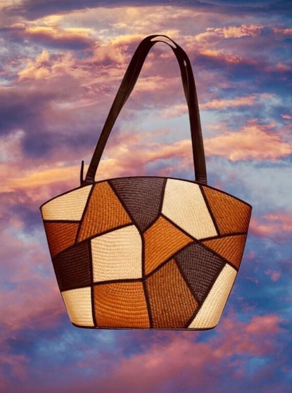Vintage Raffia Hobo Bag