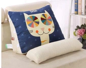 Triangular Backrest Pillow Waist Cushion Washable