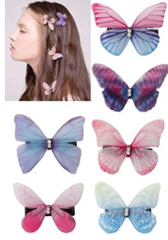 VCOSTORE 12 Pcs Baby Girls Hair Clips Fairy Butterfly Hair Barrettes Accessories for Women Teen Infant