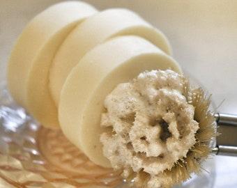 Solid Round Dish Washing Soap, Zero Waste, Plastic Free, Eco Friendly and Vegan