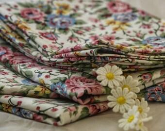 Cotton Tea Towel Vintage Print; Kitchen Dish Towel