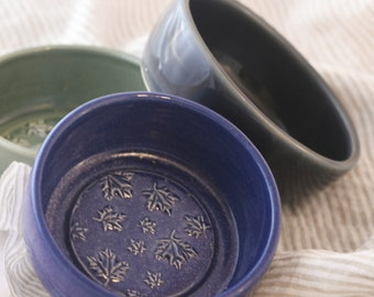 Ceramic Patterned Pottery Shave Soap Holder Hand Thrown