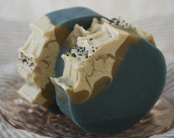 Eucalyptus Peppermint Goats' Milk Soap Natural & Organic with Tussah Silk