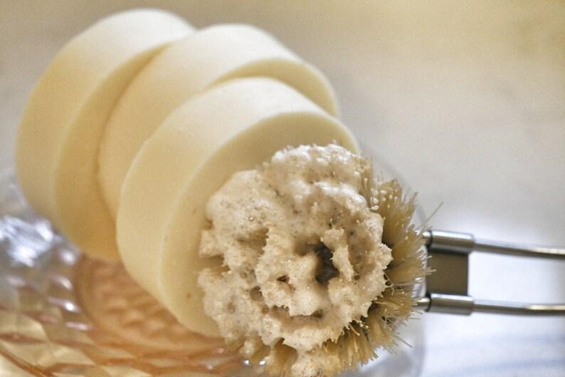 Solid Round Dish Washing Soap Zero Waste Plastic Free Eco Lemongrass