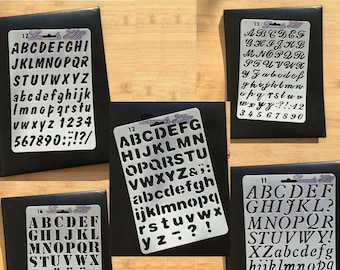 Large Letter Stencils for Painting on Wood Reusable Plastic Stencils in 176 Designs for Chalkboard Fabric Wood Signs 45 Pack Alphabet Letter Number Stencil Templates with Signs and Holiday Patterns