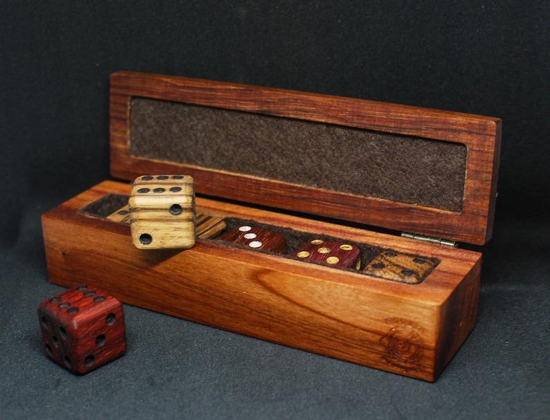 Wooden Dice Box  Handmade Retro Little Box