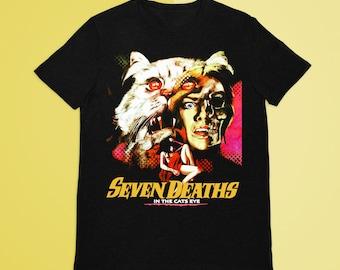 Seven Deaths  T-Shirt, Horror Movies T-Shirt, Horror Shirt, Goth T-Shirt, Skull Shirt, Woman Shirt, Man Shirt, Horror Movie T-Shirt,