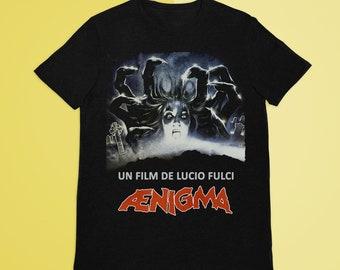 Aenigma T-Shirt, Italian Horror, Lucio Fulci Movie, Vhs Horror, Rare Horror Vhs, Retro Horror Movie, Vhs Horror Shirt, Vhs Shirt