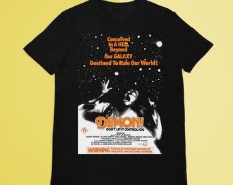 Demon- God told me to T-Shirt, Cult Horror T-Shirt, Halloween Shirt, vhs  aesthetic, retro aesthetic, 70s horror, vhs collection
