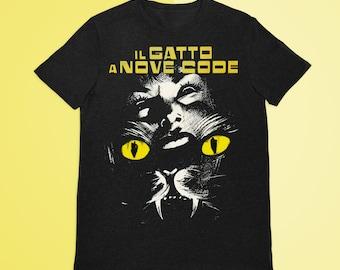 The Cat O' Nine Tails S  T-Shirt, Scary T-Shirt, Classic Horror Shirt, Goth T-Shirt, Skull Shirt, Woman Shirt, Man Shirt, Horror Movie