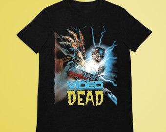 The Video Dead  T-Shirt, Vintage Horror Poster, Retro Vhs, Retro Horror Poster, Cult Horror Movie, Cult Horror Vhs, Vintage Vhs, Vintage