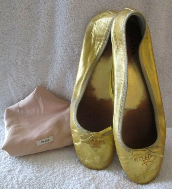Metallic Gold Ballet Flats