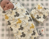 Mickey Mouse, Minnie, Swaddle Blanket, Burrito Blanket, Disney Baby, Super Soft Flannel, Burp Cloths, Receiving Blanket, Baby Shower Gift