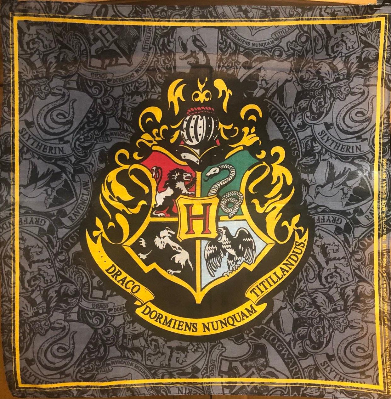 Harry Potter Fabric House Crest Panel Wizarding World 100/% Cotton