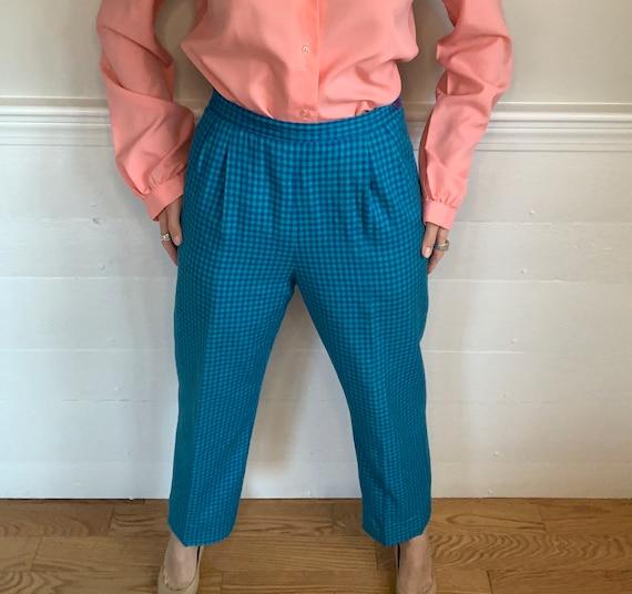 "1980's Vintage Plaid Pants   Pendleton   26"" wais… - image 3"