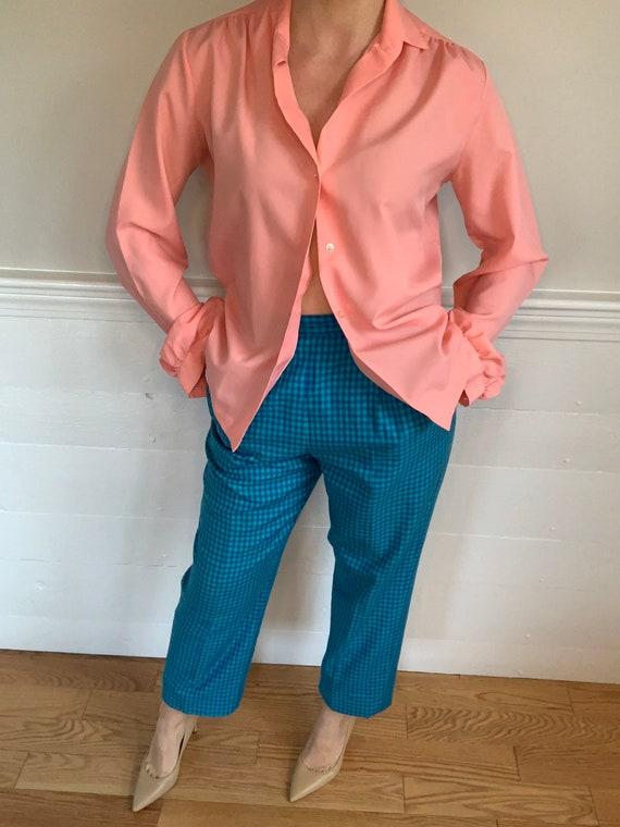 "1980's Vintage Plaid Pants   Pendleton   26"" wais… - image 8"