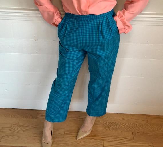 "1980's Vintage Plaid Pants   Pendleton   26"" wais… - image 1"