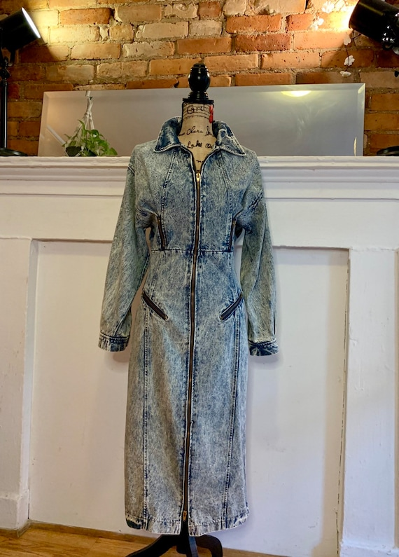Acid wash denim dress | 1980's |