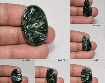 Hand made SERAPHINITE For Making jewellery 45x 24 mmCode#4021 SERAPHINITE Loose Gemstone Natural SERAPHINITE Cabochon Gemstone Very Rare!
