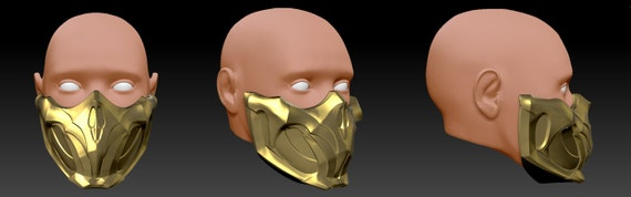 Scorpion Mask Mortal Kombat 11 3d Print Model Etsy