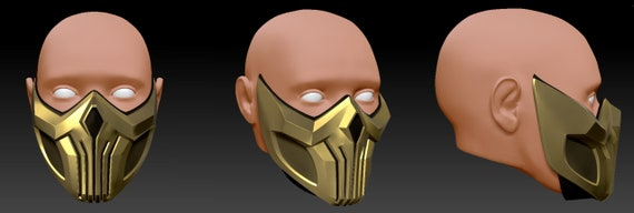 Scorpion Mask Mortal Kombat 11 3d Printable Model Etsy