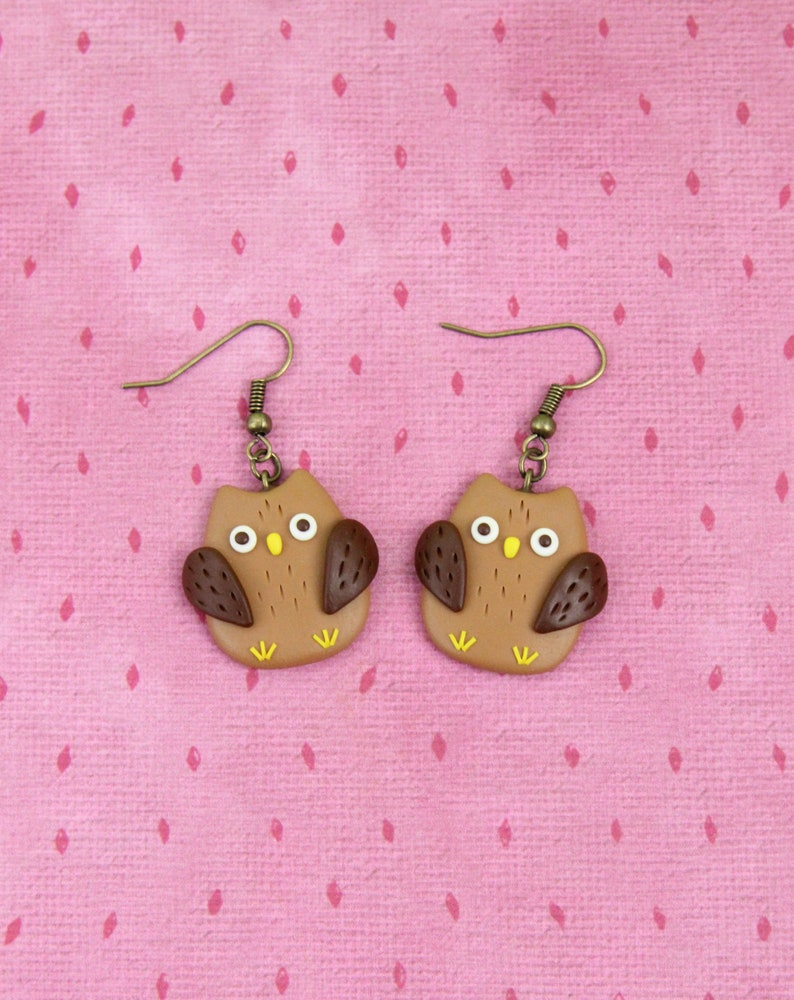 Stocking Stuffers Brown Owl Brooch Wise Owl Jewelry Woodland Animal Badge Wild Nature Pin Gift For Friends Forest Bird Pin