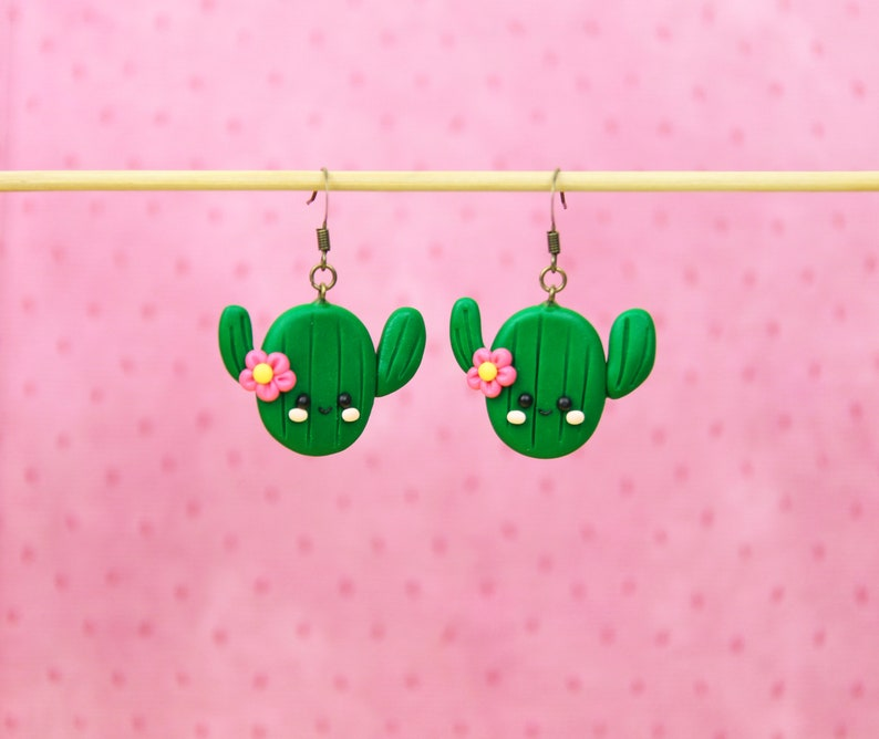 Cacti Jewelry Fun Plant Keychain Kawaii Cactus Keychain Gift For Nature Lover Funny Friends Gift Desert Jewelry Stocking Stuffers