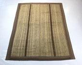 Goat hair rug, patchwork oushak rug, kilim patchwork rug, patchwork carpet, antique rug, decorative kilim rug, organic rug, mohair rug