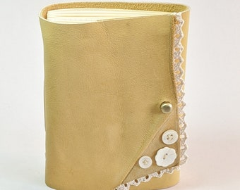 Field Journal, Leather Notebook, Leather Planner, Handmade, Poet Gift, Writer's gift, Leather Anniversary, Traveler's  Gift, Travel Journal