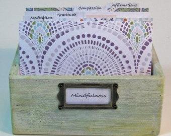 Gratitude Journal, Yoga Journal, Meditation Journal, Prayer Box, Blessing Box, Mindfulness Journal, Box Journal, Rustic Wood, Daily Practice