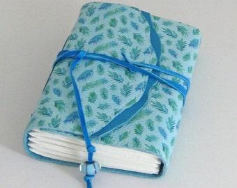 Small Blue Field Journal, Travel Journal, Traveler's Notebook, Pocket Journal, Poet Gift, Writer's Gift, Leather Anniversary, Girl's Diary