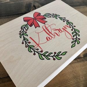 Personalized Christmas Eve Box  Custom Christmas Keepsake Box  Holiday Memory Wood Box Item 1762FFG