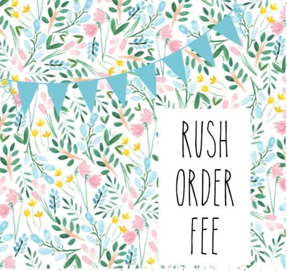RUSH MY PIECE!!Rush fee per item.Rush fee per piece.Rush.Expedited order.Fast turnaround.Weddings,Hair Flower,Hair Bows,Hair Accessory,/&more