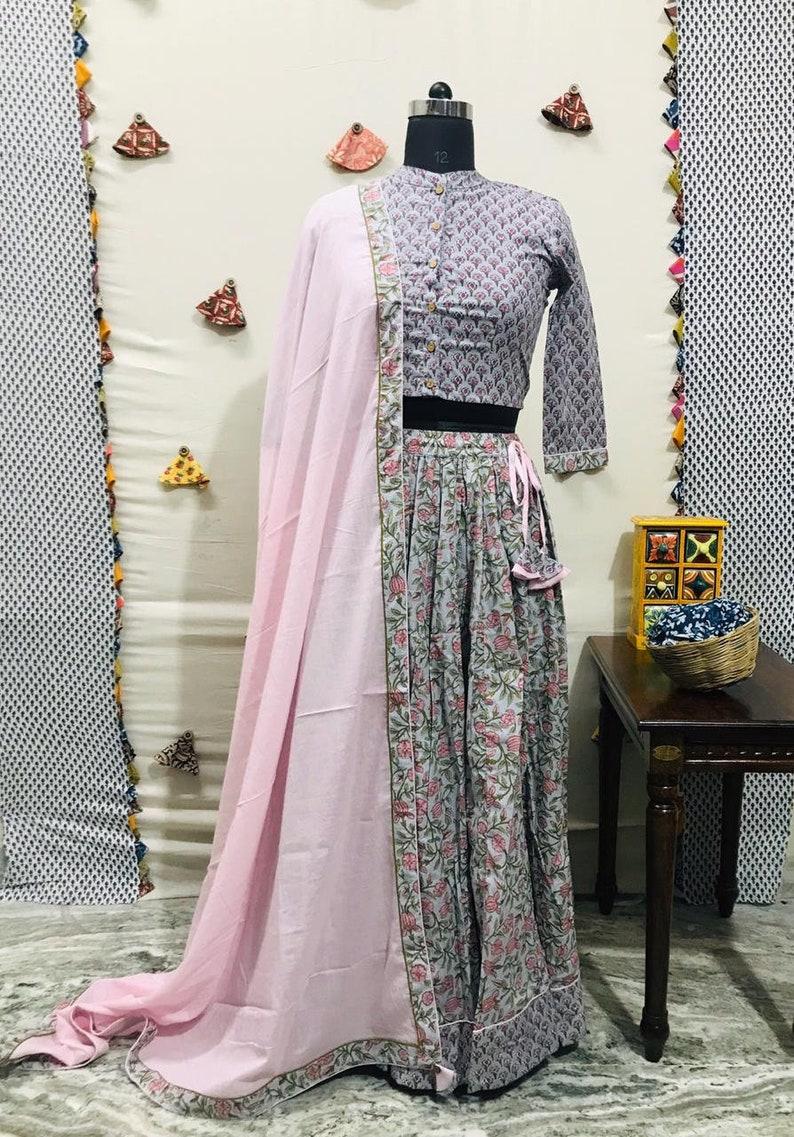 top /& skirt Crop