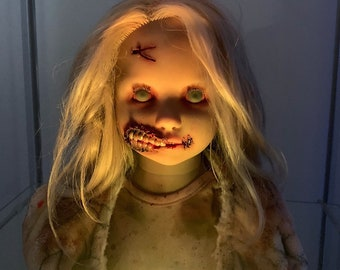 OOAK Doll - The Walking Dead Inspired - Zombie Girl - Hand painted