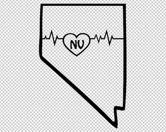 Nevada State Map Svg Clip Art Transparent Nevada Svg Nevada Etsy
