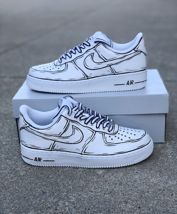 Classic Cartoon Painted Air Force One