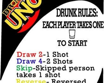 Drunk Uno With Customize Wine Bottles Etsy