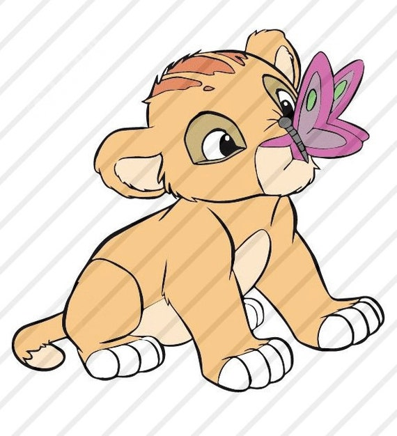 Baby Lion King Svg Cartoon Clipart For Cricut Or Silhouette Etsy