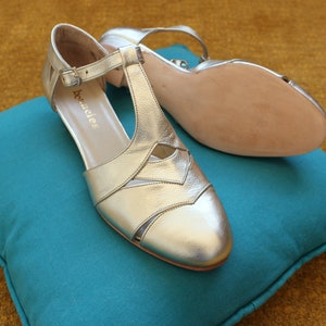 1930s Shoes – Art Deco Shoes, Heels, Boots, Sandals MILDRED - Hand-crafted swing shoes Dance France $172.00 AT vintagedancer.com
