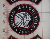 Custom Embroidered Indian Motorcycle Logo Patch Set