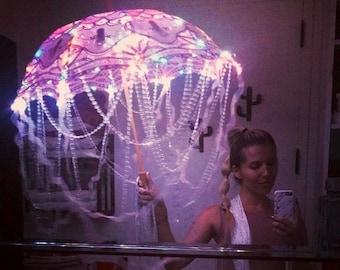 "Pink Lace LED Parasol Umbrella ~ ""The Mind Flowers"""
