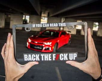 IF YOU CAN READ THIS YOU/'RE CLOSE HUMOR FUNNY Metal License Plate Frame